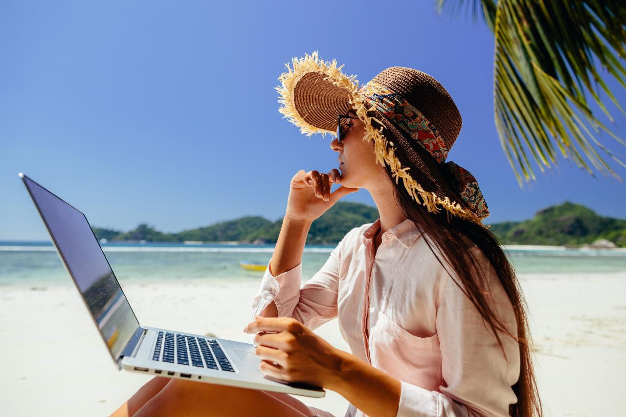 Work from anywhere woman